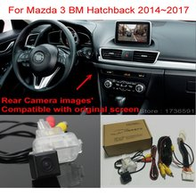 цена на For Mazda 3 Mazda3 BM Hatchback 2014~2017 RCA & Original Screen Compatible Car Back up Reverse Camera Car Rear View Camera Sets