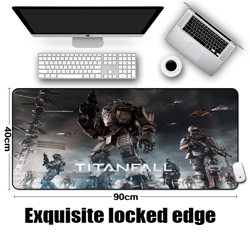 Mairuige The Hot Game Titanfall 2 Pattern Diy Mousepad Titan Mech Creative Table Desk Mat Big Size for Pc Game/office/s image