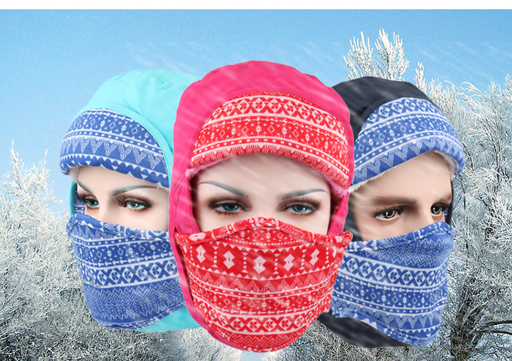 Beanie New Outdoors Hat Winter Keep Warm Earmuffs Ski Face Mask Snow Cap Balaclava Cappello Gorro Masculino Hats Multicolor 2017 new full face cover mask three 3 hole balaclava knit hat winter stretch snow mask beanie hat cap free shipping