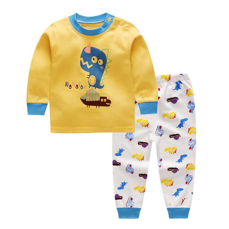 купить Baby Boys Girls Long Sleeve T Shirts Pants 2pcs Set Children Cotton Suit Boys Clothes Outfits Tracksuit for Girls Kids Sets по цене 316.87 рублей