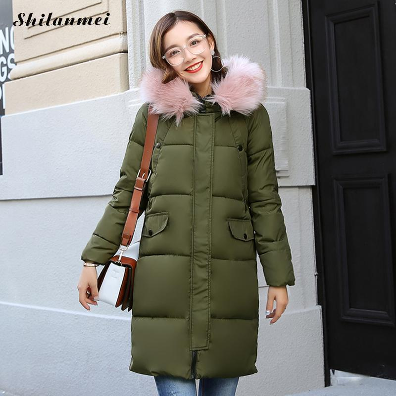 new woman winter coats and jackets with fur hooded long winter parka manteau femme hiver tiger animal prints big size outwear