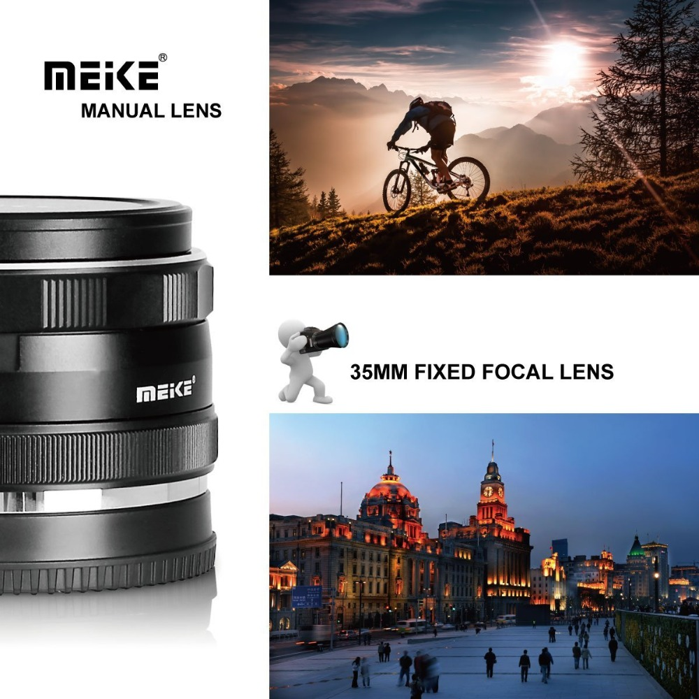 Meike 35mm F17 Manual Focus Prime Lens For Micro Four Thirds Mft M4 50mm F2 Third Mirrorless Mk F 17 Large Aperture Sony E Mount Camerasa6300 A6000 A5100 With Full Frames Aps Cusd 11049 Piece
