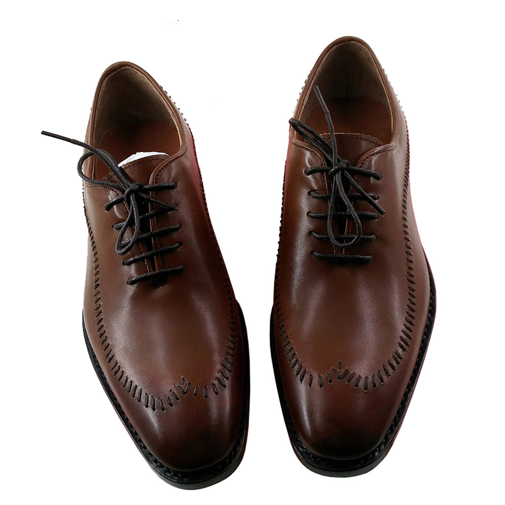 Sipriks Luxury Unique Designer Dress Shoes Suture Stitching Vamps Oxfords Patina Tan Leather Goodyear Welted Shoes Boss Business все цены