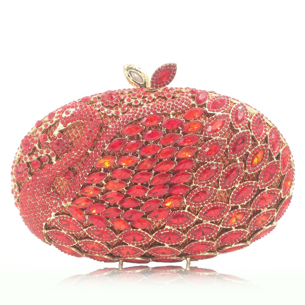 red/pink/gold Hollow Flower Women Crystal Evening Clutch Minaudiere Bag Wedding Party Cocktail Diamond Handbag and Purse wallet luxury red crystal diamond flower women evening clutch bag bridal wedding sparkly rhinestone cocktail banquet bag tyvek wallet