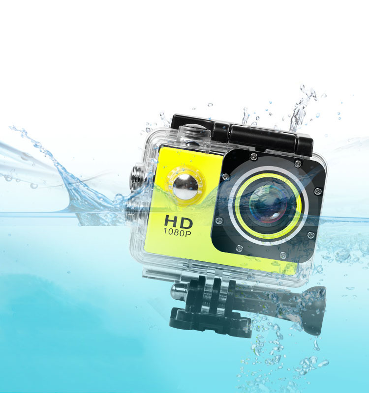 Galleria fotografica 1080P HD Outdoor Mini Sport Action Camera Waterproof Cam DV Video Camcorder Recorder with Screen Full Color Water Resistant
