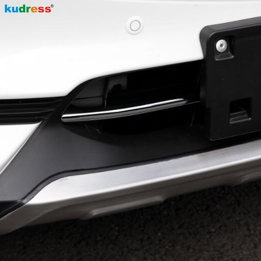цена на For Mazda CX5 CX-5 2017 2018 Steel Chrome Front Bottom Bumper Protector Lower Moulding Grill Grille Hood Cover Car Accessories