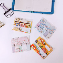 1X Cute Mini Cartoon post notes N times paste Memo Pad Sticky Note Kawaii Paper Scrapbooking Sticker Pads Creative