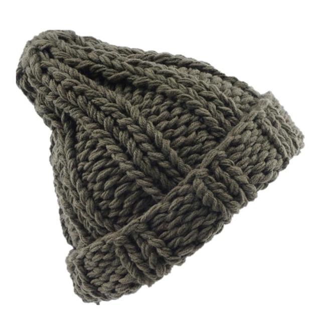 Women Fashion Keep Warm Manual Wool Knitted Earmuffs Hats Girls Caps Moda feminina Casquette femme women's hats Gorros Bonnet