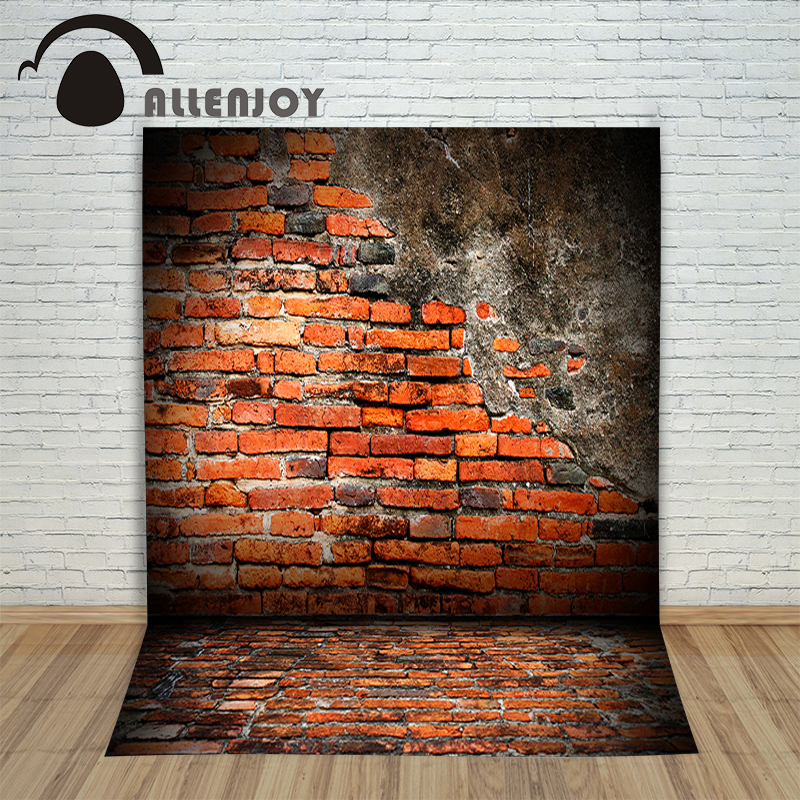 Vinyl photo studio background Brick wall destruction retro red photocall products Allenjoy backdrops