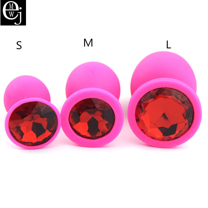 Ejmw Pink Silicone Anal Plug 3 Size You Can Choose Butt -2488