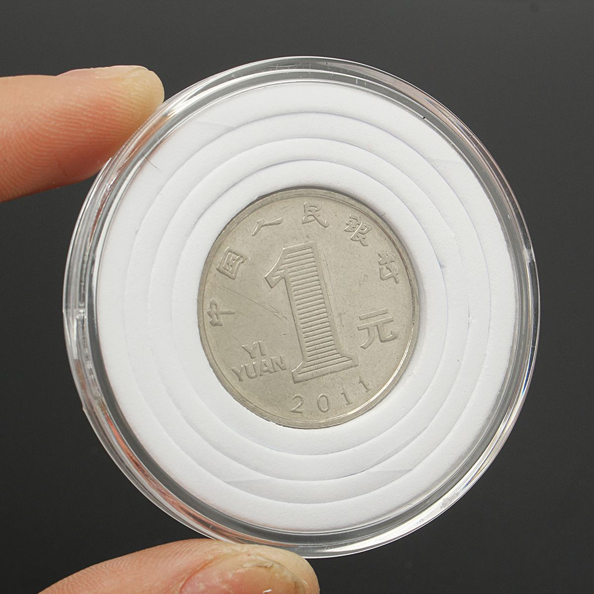 10pcs 54mm Plastic Box Coin Holder Capsules Cointainer Coin Round Case