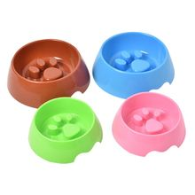 Pet Plastic Feeding Bowls Water Dispenser Slowing Feeders and Pet Claw Design Cat Food Feeding Dish Pet Products Dog Supplies(China)