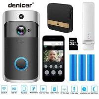 Smart IP Video Intercom WI FI Video 720P Ring Phone Door Bell Cam WIFI Doorbell Camera Home Alarm Wireless Security Camera