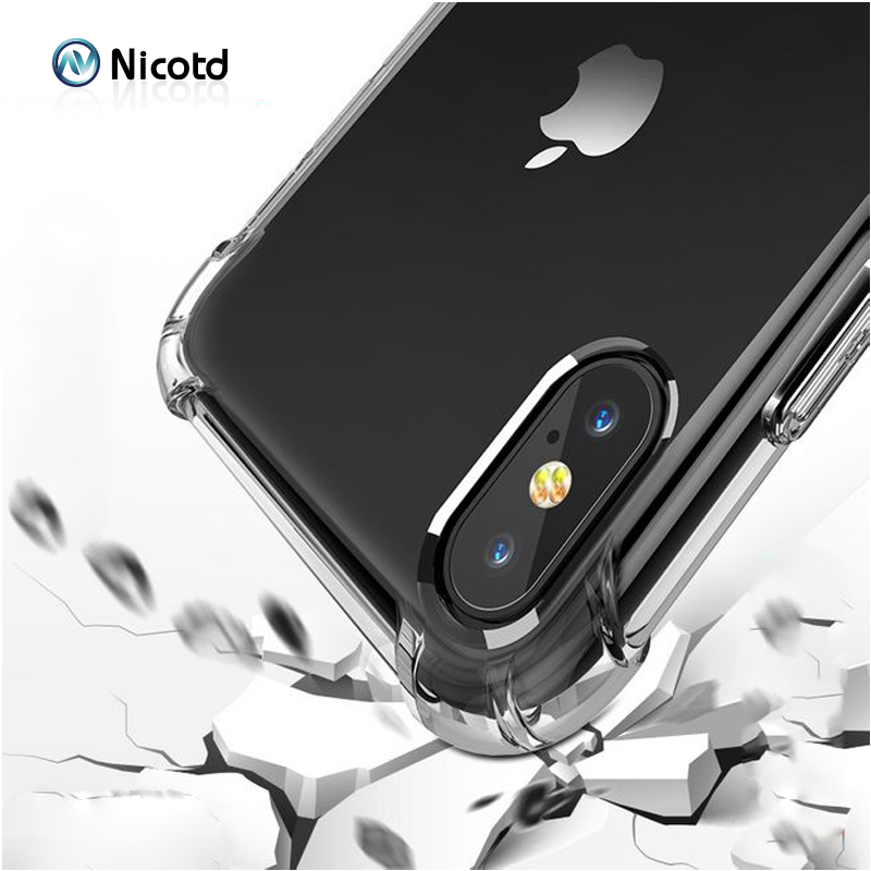 Nicotd TPU Case For iPhone XS Max Soft Case Clear Thin Cases For iPhone XS MAX XR X 7 PLUS 8 6S Case Crystal Silicone Cover bags (2)