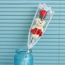 1Pc New Romantic Artificial Flower Bear Rose Soap Valentines Day Creative Gifts Cartoon Bouquet Wedding Decoration Party Favors