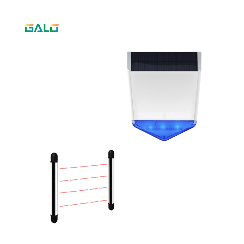 Wall Gate Window Photoelectric Infrared Beam Detector perimeter protection 4 beam infrared sensor+wireless outdoor Solar alarm
