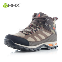 Rax Outdoor Hiking Shoes Men Waterproof Trekking Boots Camping Sneakers Man Leather Breathable Shoes Anti Slippery Boots D0539