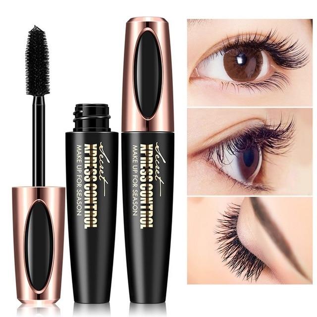 de15ba3fca98 New 4D Silk Fiber Lash Mascara Waterproof Rimel 3d Mascara For Eyelash  Extension Black Thick Lengthening Eye Lashes Cosmetics
