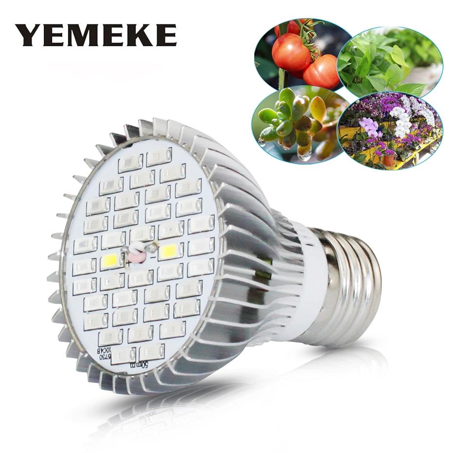 AC85-265V Full Spectrum E27 Led Grow Light 30W 50W 80W SMD 5730 Red+Blue+White+IR+UV Phyto Lamp For Flower Hydroponics System
