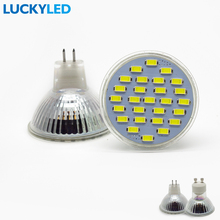 LUCKYLED Energy Saving lampada BULB GU10 MR16 GU5.3 AC110V 220V NO Dimmable Led Spotlight Warm / Cool White ampoule Light lamp(China)