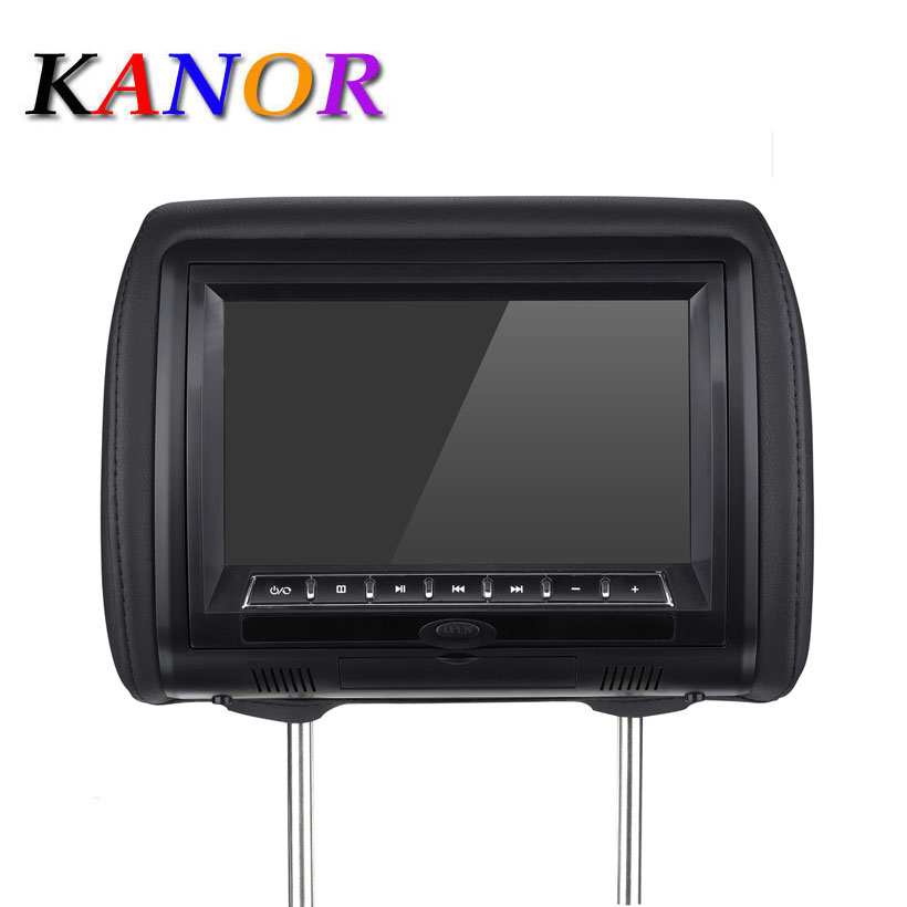 2шт 9 дюймов HD цифровой автомобильный подголовник dvd плеер 32 бит игра + USB + SD + IR/FM передатчик молния крышка Черный Бежевый Серый подголовник ав