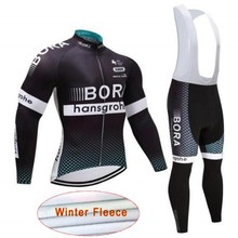 2018 Winter TEAM BORA New thermal fleece Cycling JERSEY Bike Pants set mens  9D pads Ropa 676793ed9