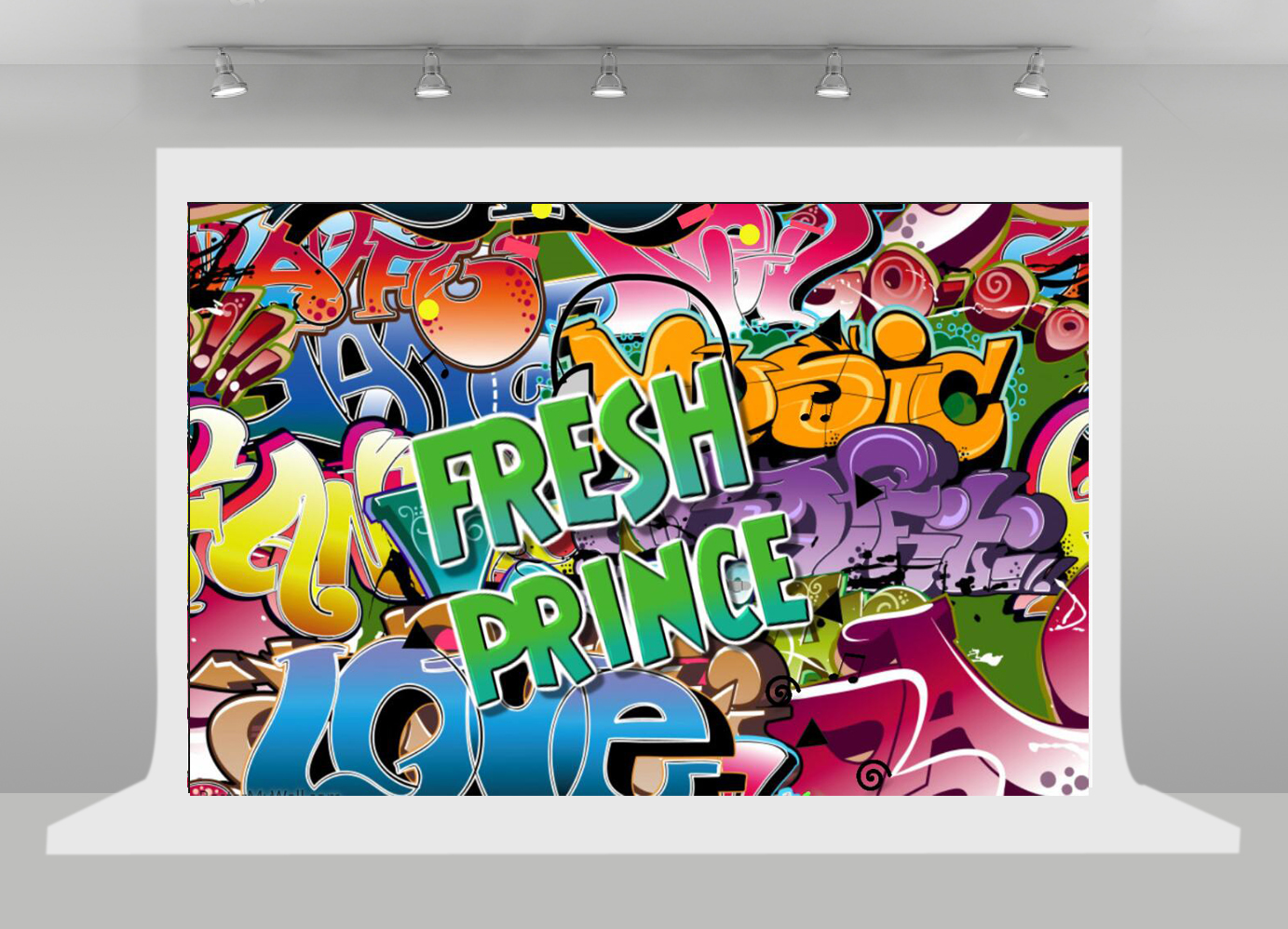 The fresh prince photography backdrop birthday 80s 90s party decor graffiti wall photo background music birthday banner sm 105 in background from consumer