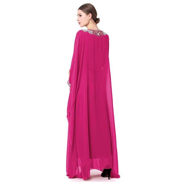 Muslim Maxi Dress Women Print Abaya Burka Kaftan Arab Robes Kimono Islamic  Dresses Dubai Turkey Colorful 082b9e152863