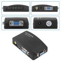 1set High Resolution Digital AV S Video To VGA TV Signal Converter Adapter S Video To