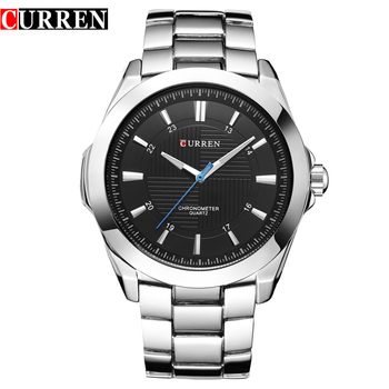 CURREN Watches Top Brand Luxury Classic Business Quartz Men Wristwatches Stainless Steel Band Male Clock Montre Homme Relojes - discount item  44% OFF Men's Watches