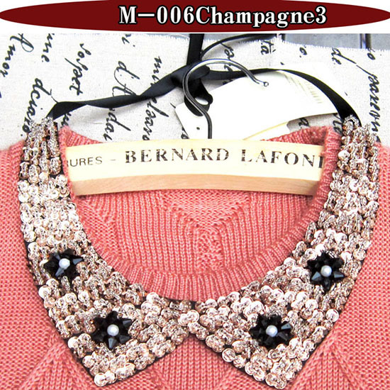Trendy crystal jewellery pearl beads necklaces rhinestones detachable collar women necklace fine jewelry choker necklace pendent