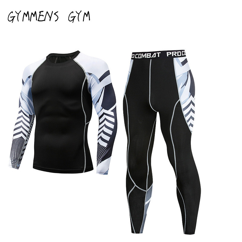 Fitness Clothes Men Sports Running Tights Training Compression Clothes Moisture Underwear Perspiration