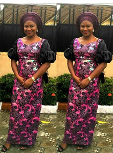 Image 3 - 2019 고품질 Sequins 아프리카 나이지리아 레이스 원단 고품질 스팽글 결혼식을위한 프랑스 얇은 명주 그물 원단 PartyA1592
