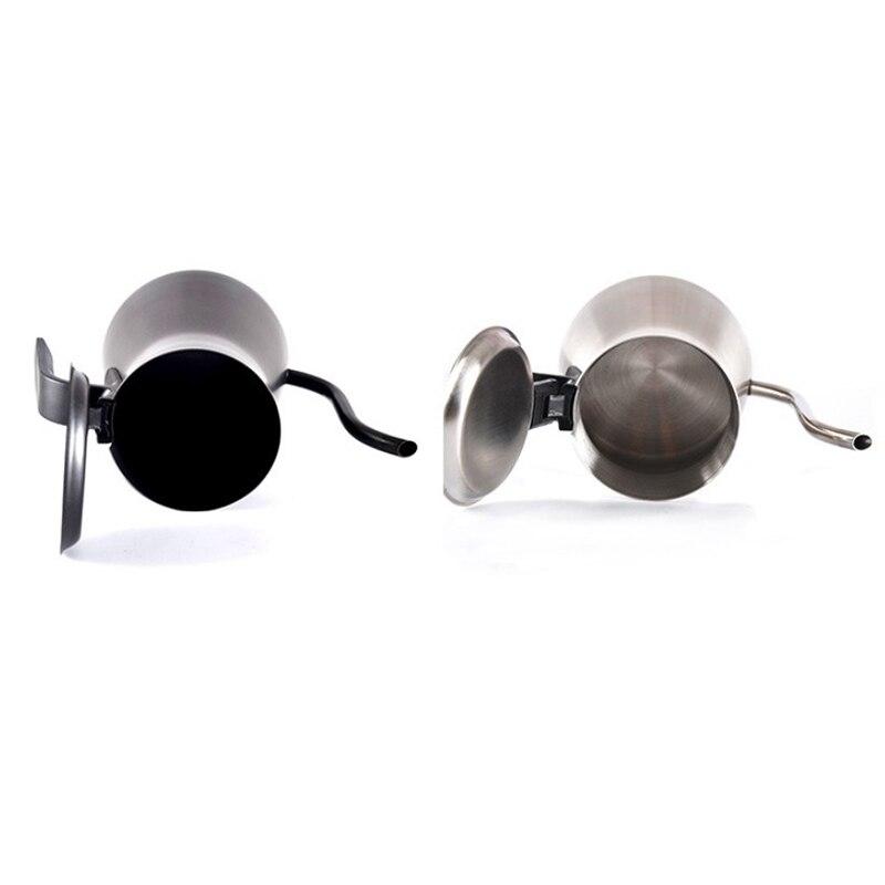 900Ml Stainless Steel Drip Type Hand-Washing Pot Set Coffee Pot Fine Mouth Pot