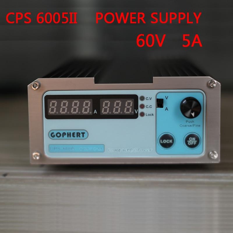 CPS6005II 60V-5A alimentation à découpage cc réglable SMPS commutable AC 110 V/230 V empêcher la fonction de faux contact, un verrou à clé