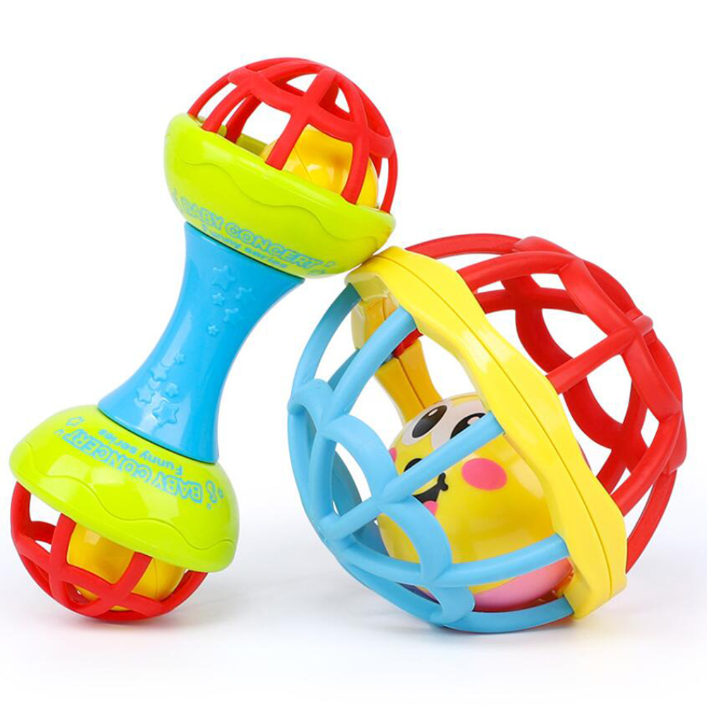 Rattles Grasping Toy Baby Bell Ball Handbell Toy Newborn Baby Infant Soft Cute Doll Hand Bell Rattle Baby Toys