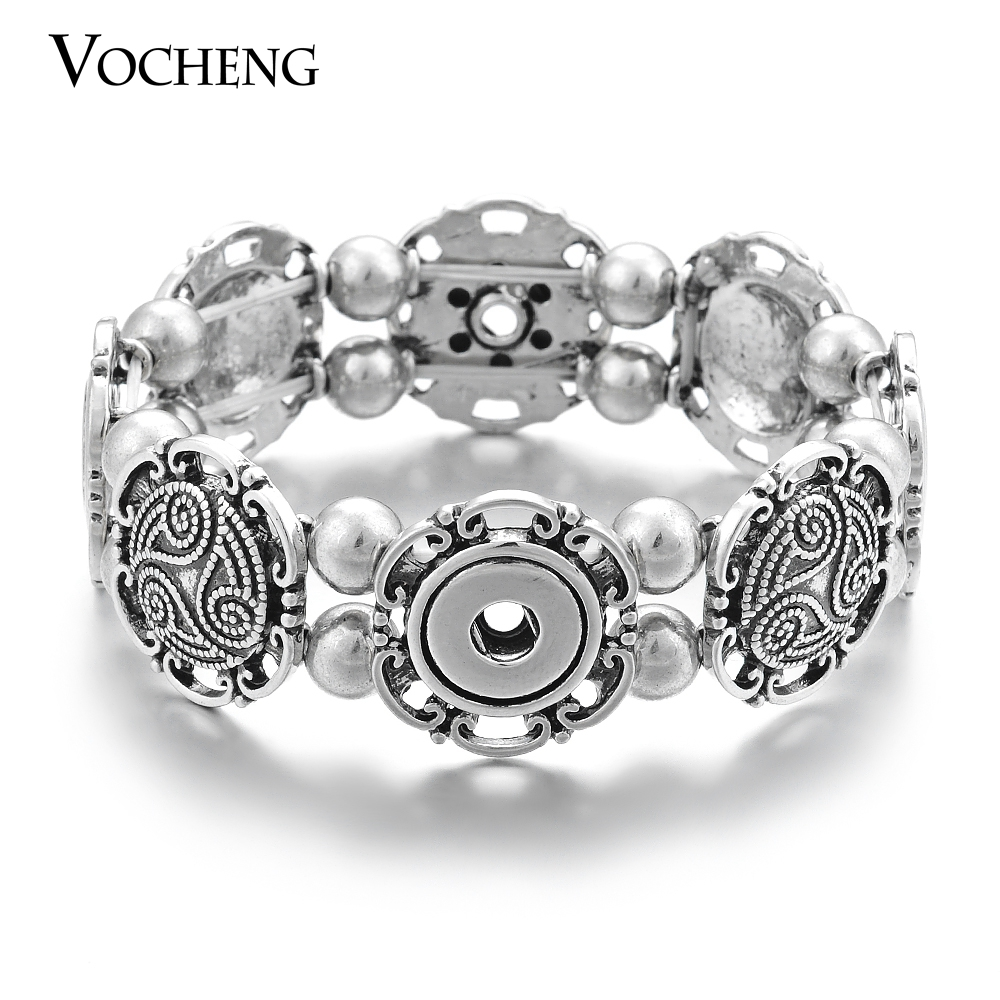 10pcs/lot Wholesale Vocheng Stretch Elastic Bracelet Small <font><b>12mm</b></font> <font><b>Snap</b></font> <font><b>Button</b></font> <font><b>Jewelry</b></font> NN-448*10 Free Shipping image