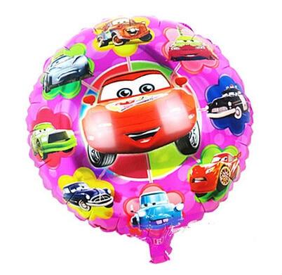 10 pcs/lot Cartoon Happy Birthday balloon Cars story Round Balao for Party Suppl
