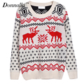 2017 Women Sweater Autumn Crew Neck Printed Long Sleeve Female Sweater Casual Loose Streetwear Female Pullovers Tops