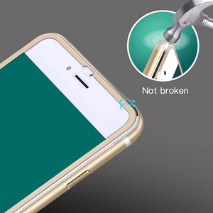 Image 2 - Protector de pantalla completo 9D para iPhone, Protector de pantalla de vidrio templado de aleación de aluminio para iPhone 6 6S 7 8 Plus 11 X XS Max XR 5 SE 5S