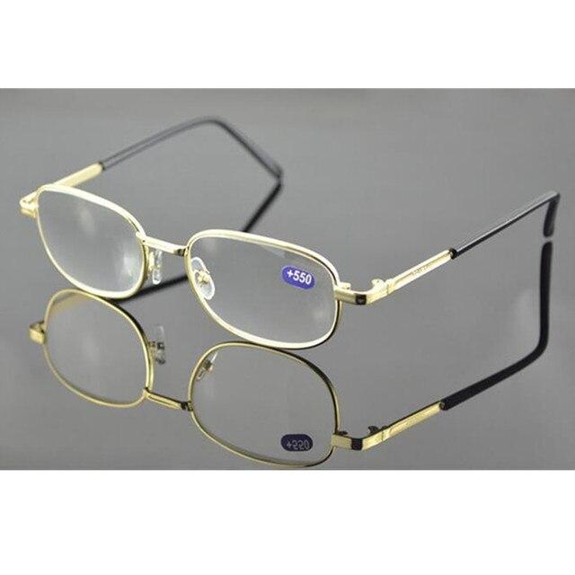 f908763200 Vintage Gold Full Rim Metal Reading Glasses Strong Power Strength +450 +500  +550 +600