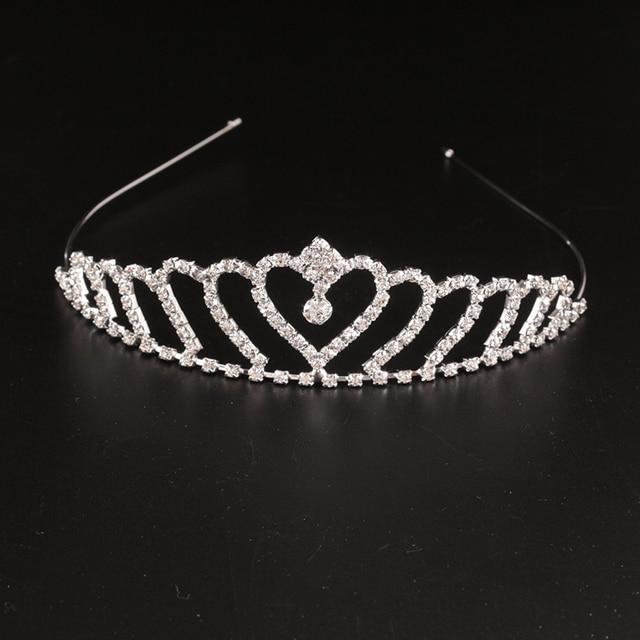 New Cute Girls Rhinestone Princess Hair Band Crown Headband Tiara Hair  Jwelry Wedding Accessories Coroa THSC0138 5a99ea894d51