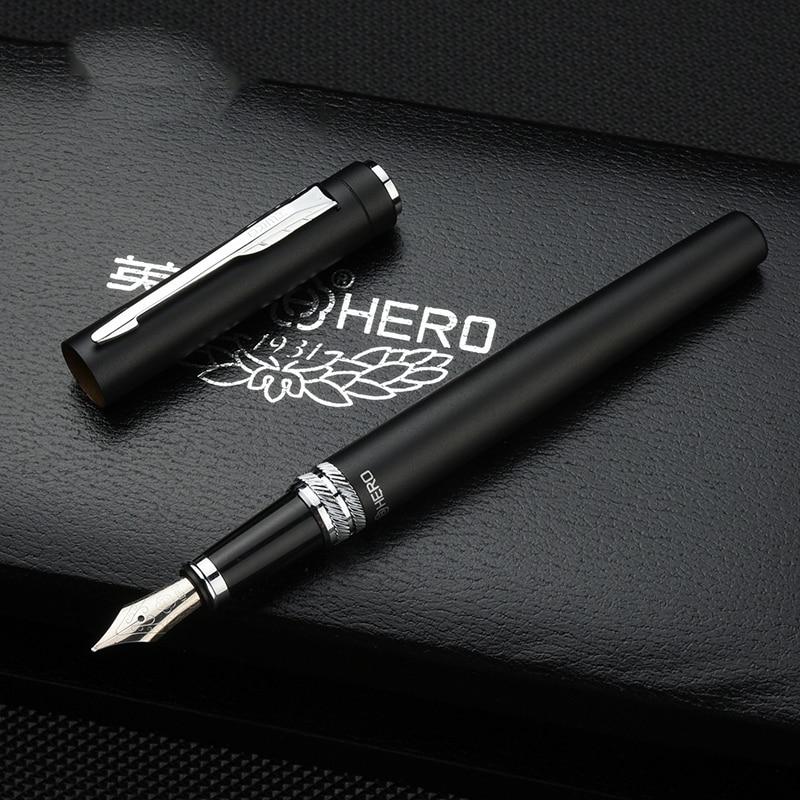 Fino iraurita nib cheio de metal caneta 0.5mm tinta canetas dolma kalem caneta tinteiro papelaria negócio assinar canetas 1035