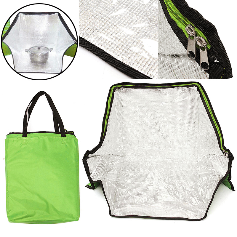 Green Portable Solar Oven Bag Cooker Sun Outdoor Camping Travel Emergency Tool Solar Oven Bag for Cooking Tools Mayitr цены