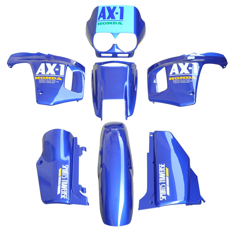 For Honda AX-1 250 NX250 NX 250 AX1 Sports Traverse Blue ABS Plastic Fairing Cowl Bodywork Kit Set New nx1 nx 1 new