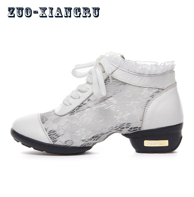 Women Breathable Dance Sneakers Dance Shoes Outdoor Feature Soft Outsole Sneakers For Ladies Girls Female Modern Dancing Shoes