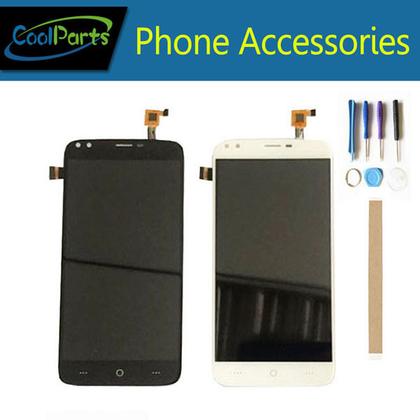 1PC/Lot High Quality 5.5 Inch For Doogee X30 LCD Screen Display+Touch Screen Digitizer Assembly White Black Color With Tape&Tool