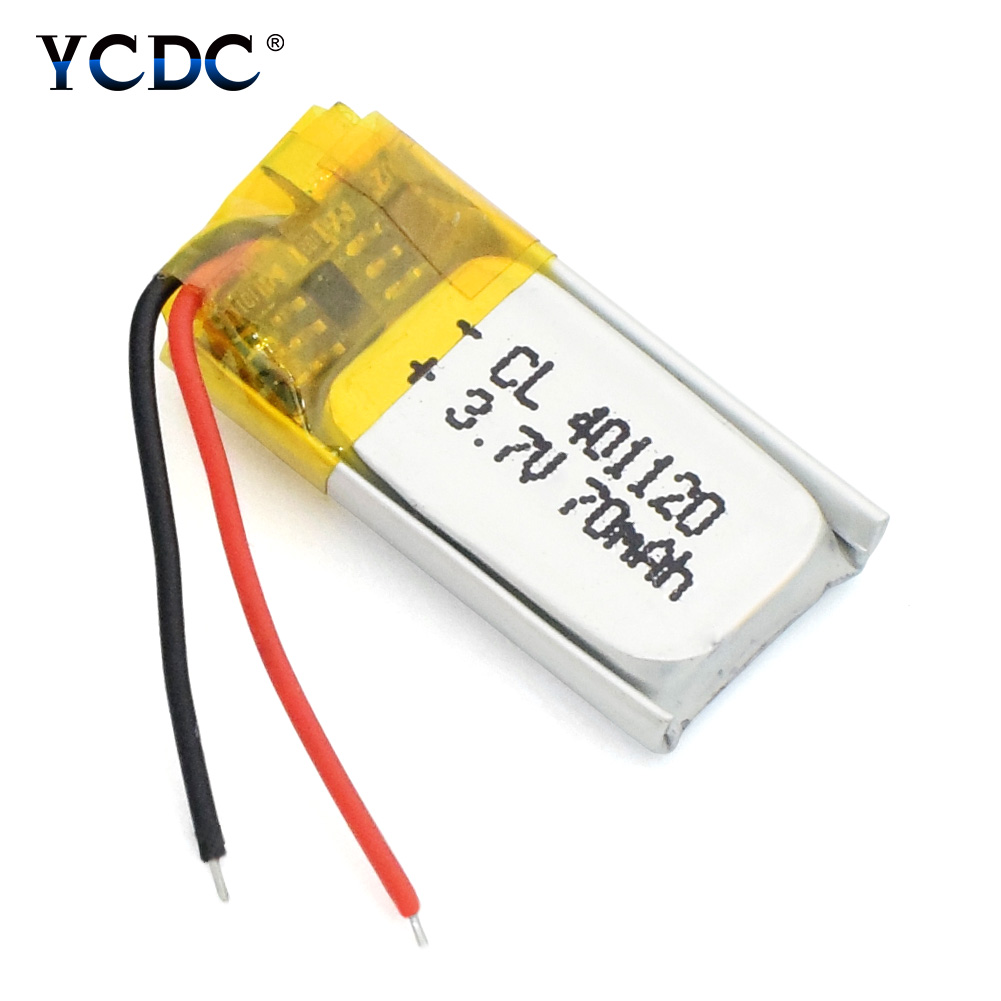 1/2/4Pcs 3.7V Rechargeable Lithium Battery 401120 401120 70mah For MP3 MP4 Bluetooth Speaker Headset Selfie Stick