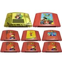 Jogo de vídeo cartucho 64 bits game console cartão super mari 64 super 18 em 1 drago ball kart 64 eua versão