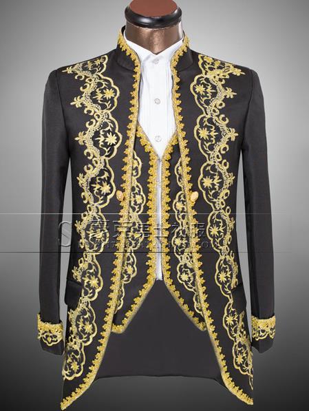 4b793bfe09e65 Marque - vêtements royaux chargement chanteur mince costume pour hommes ensemble  avec un pantalon hommes costumes de mariage groom formelle robe costume +  ...